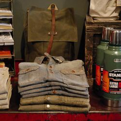 Menswear. Field Notes and Archival bags.