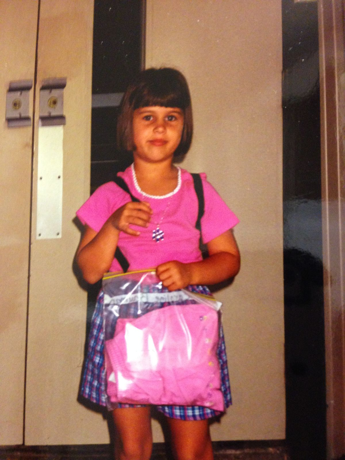 Chalkbeat community editor Caroline Bauman was more excited for her first day of kindergarten in Arkansas than she looks.