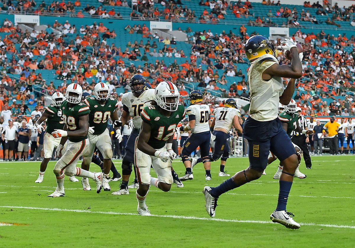 NCAA Football: Toledo at Miami