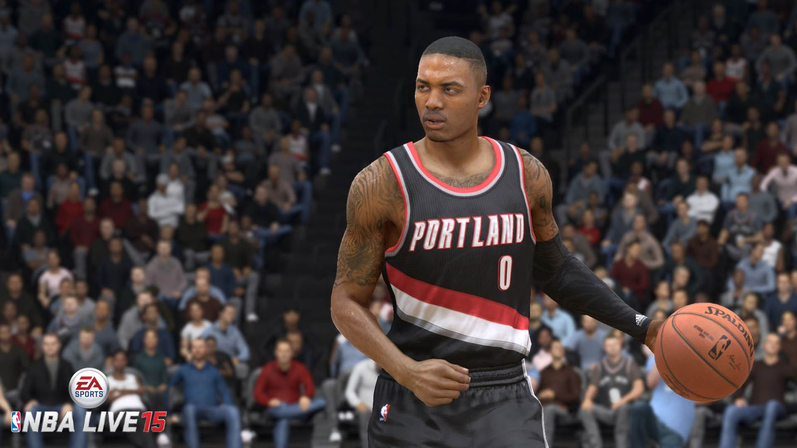 nba live 15 cover features damian lillard polygon. Black Bedroom Furniture Sets. Home Design Ideas