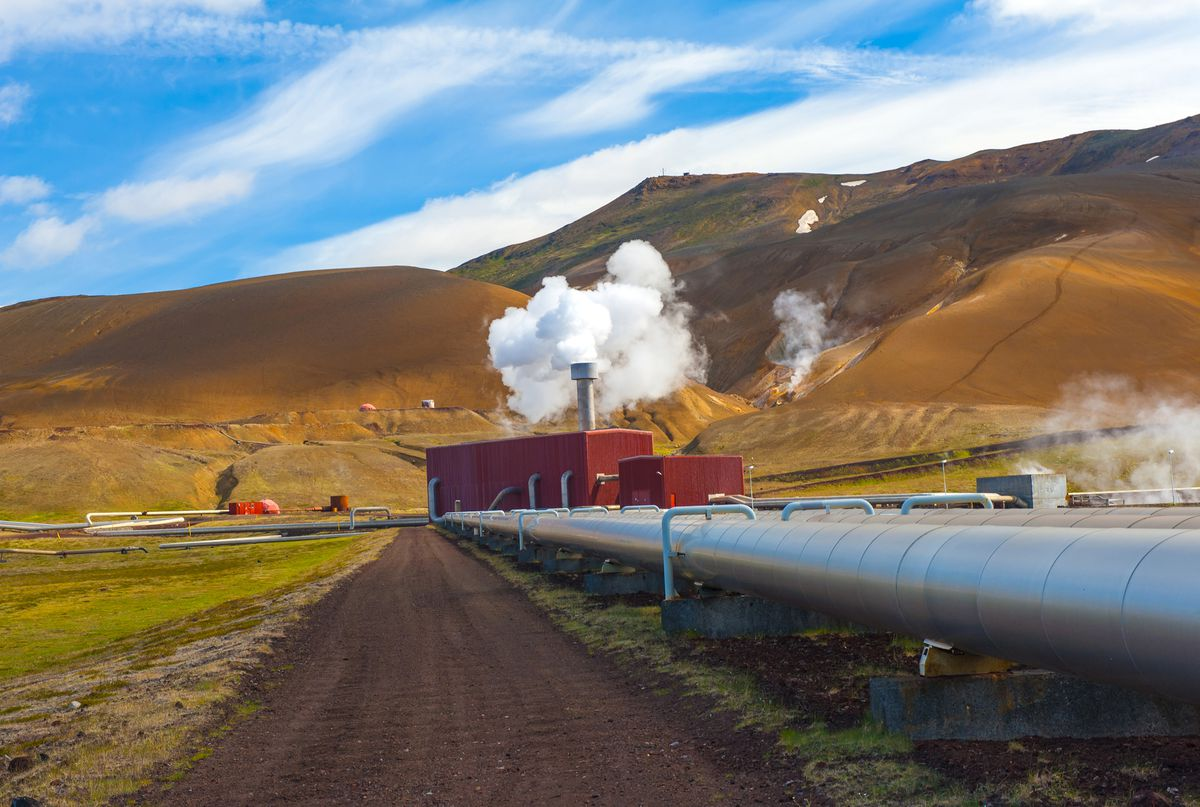 A geothermal plant in Iceland