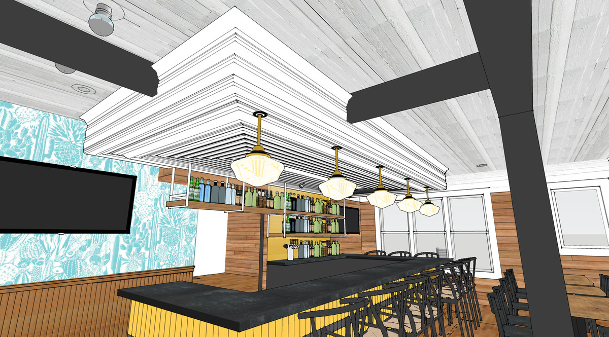 Rendering of Bar Peached's bar