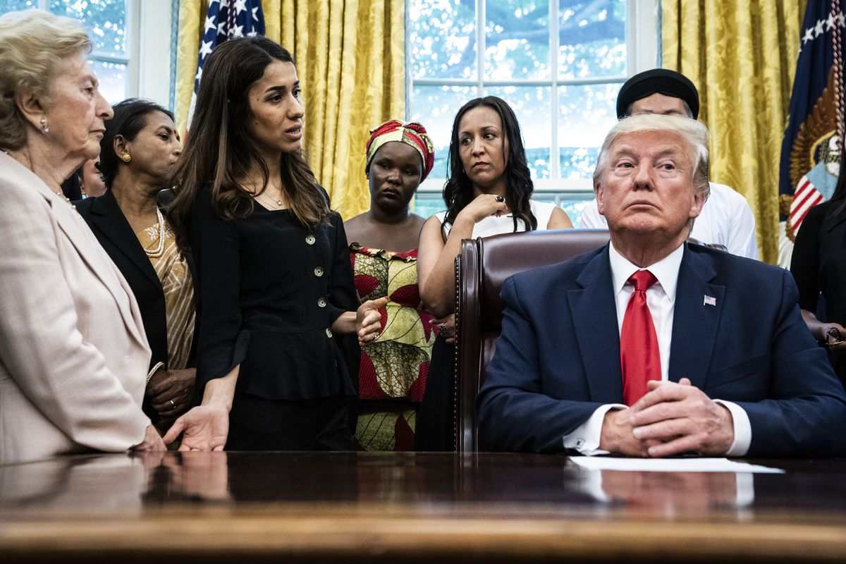 Image result for Trump and refugees
