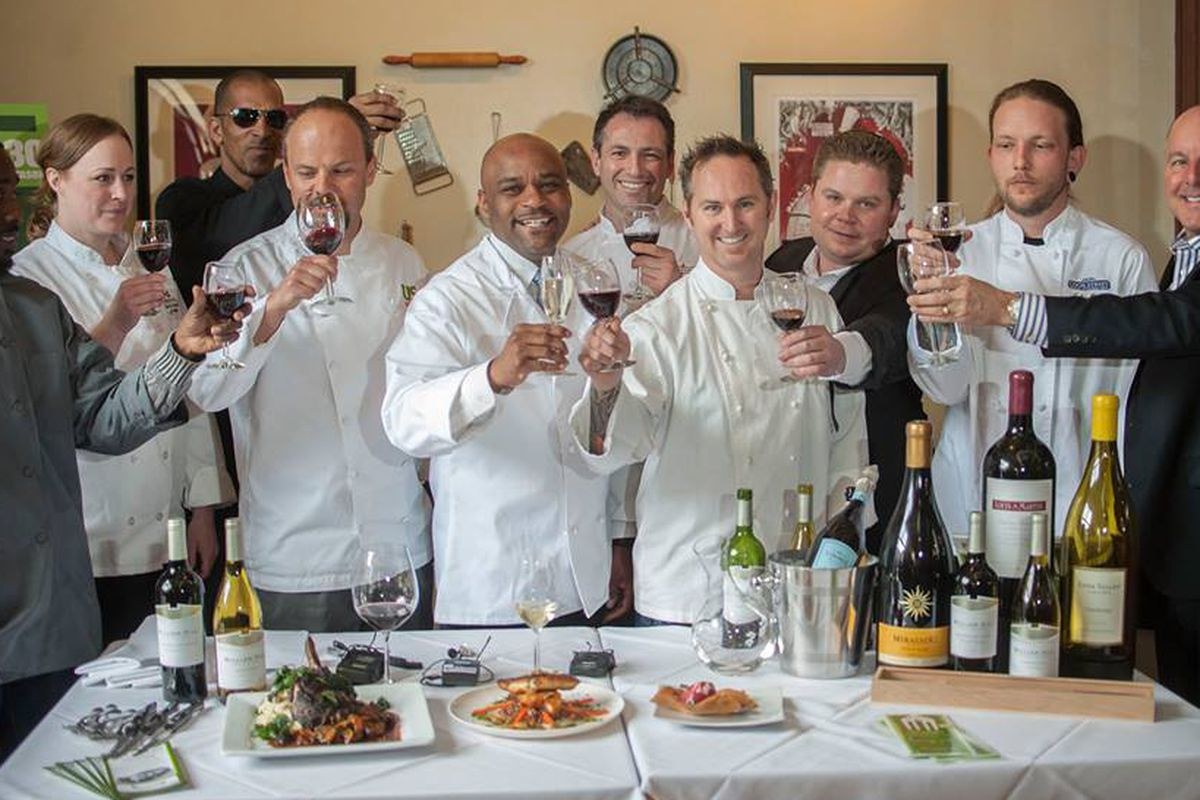 Local chefs posing for a photo at Denver Restaurant Week 2014