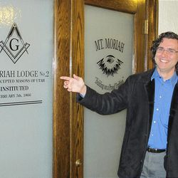 Tour guide James Wilson is a master Mason and a member of the Mt. Moriah Lodge.