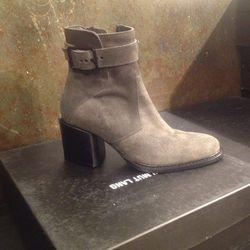 Suede booties, $249