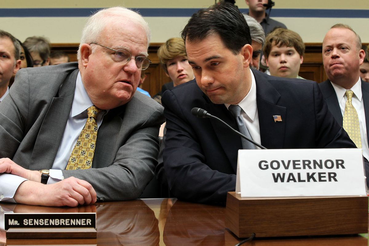 Rep. Jim Sensenbrenner (R-WI), on the left, is leading the SAFE Justice Act in the US House of Representatives.