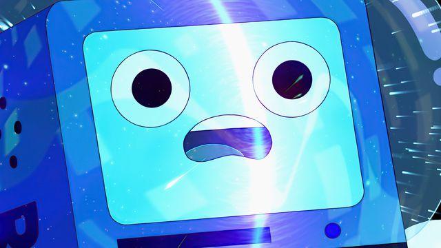 bmo looking shocked