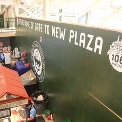 6:32 p.m. Plaza entrance area -