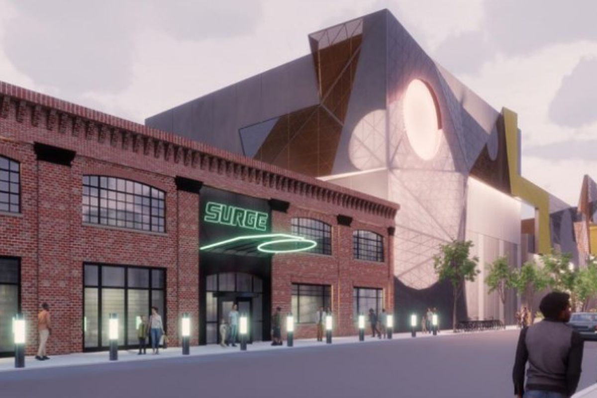 A rendering of the planned esports arena a developer wants to build in the 2500 block of South Wabash Avenue.