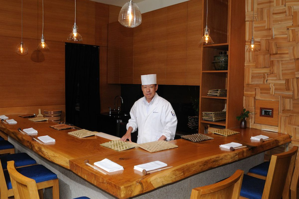 Ichimura at Brushstroke, courtesy of the restaurant.