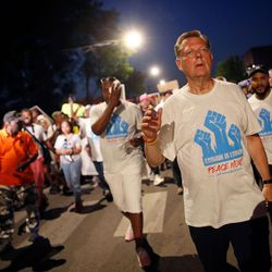The Rev. Michael Pfleger plans to lead a shutdown of the Dan Ryan Expressway on Saturday morning. | Jim Young/Getty Images