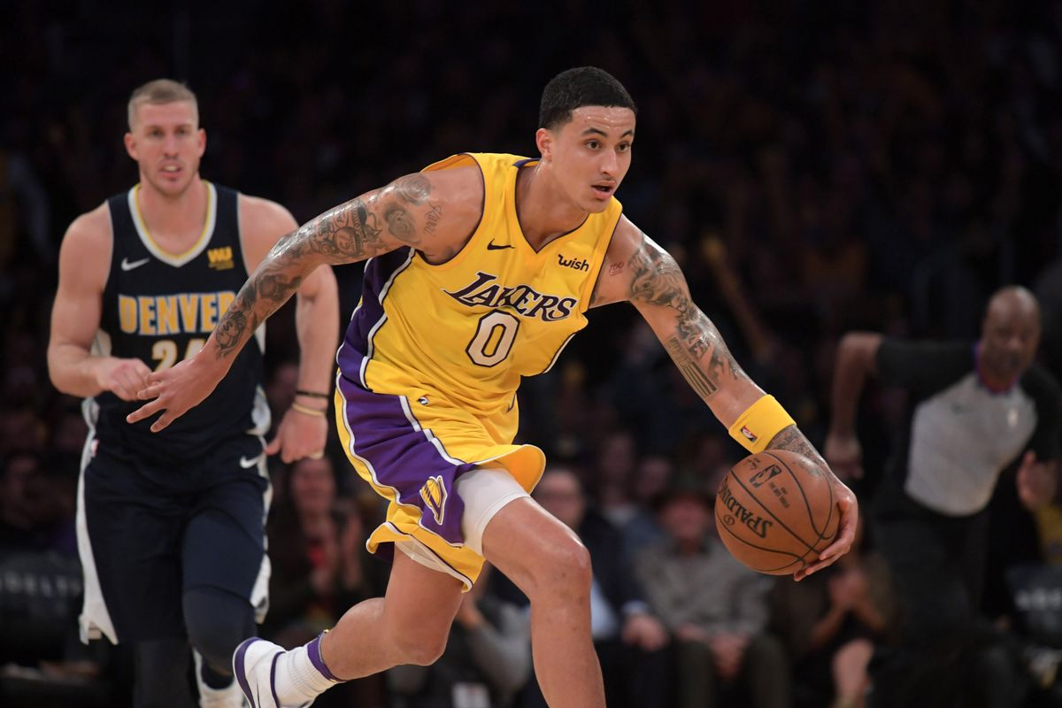 d232c0dc6ee Lakers News  Kyle Kuzma thanks The Rock for helping him pack on muscle this  summer