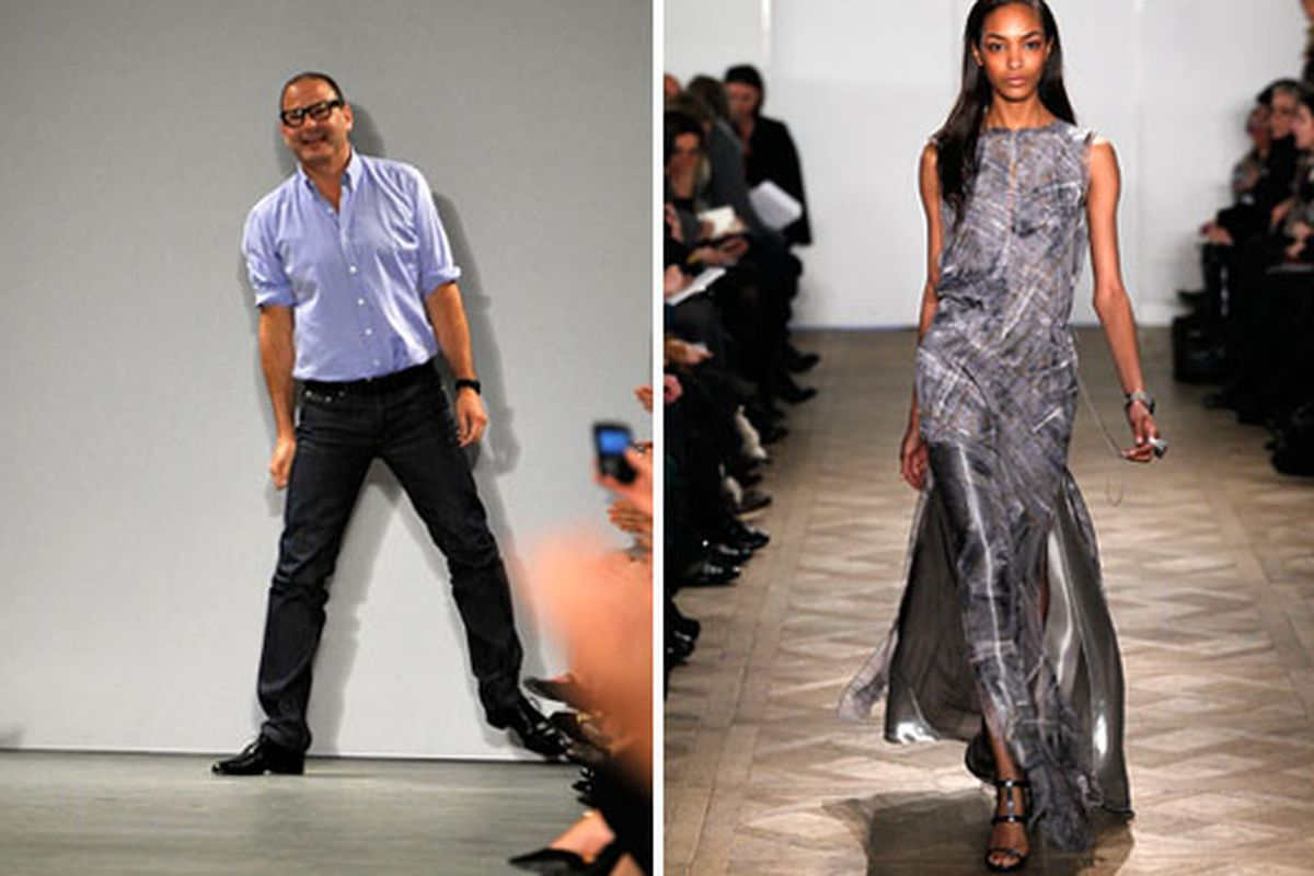 Reed Krakoff and one of his spring 2011 creations via Getty
