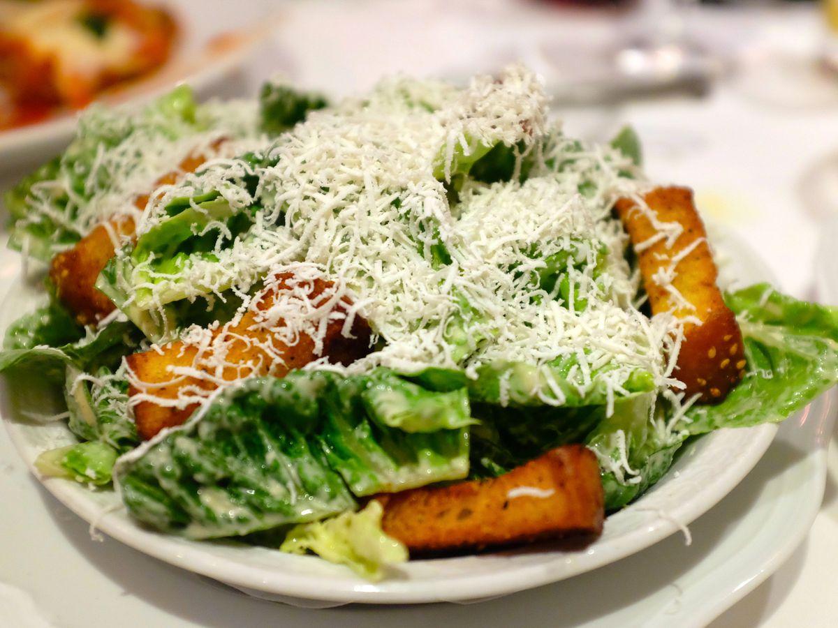 Carbone's Caesar salad
