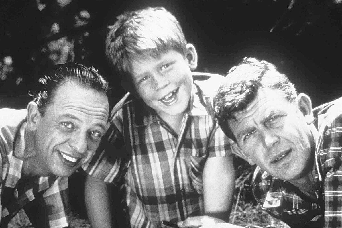 """Cast members from """"The Andy Griffith Show"""" include Don Knotts as Deputy Barney Fife (from left), Ron Howard as Opie Taylor and Andy Griffith as Sheriff Andy Taylor."""