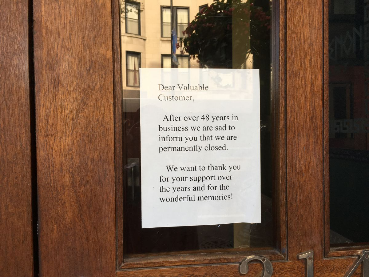 Sign in window at The Parthenon. Photo by Mitch Dudek.