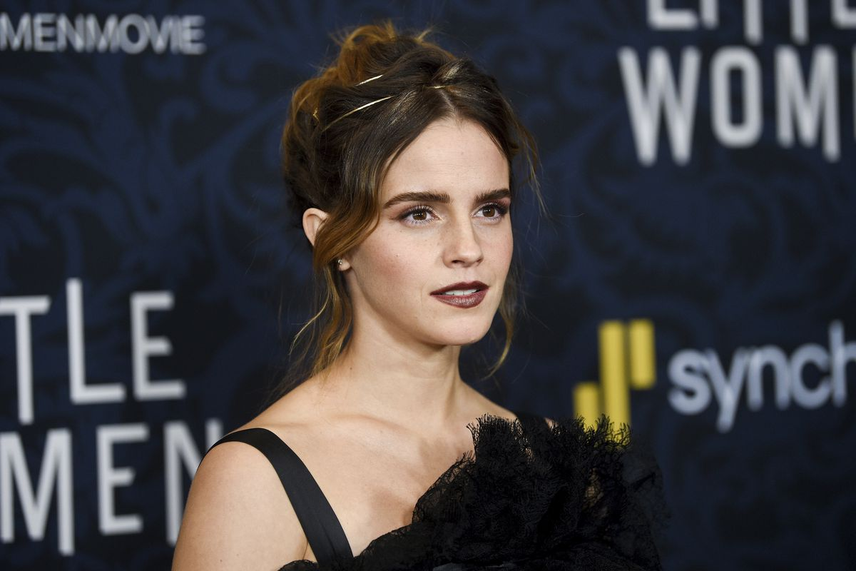 """Actress Emma Watson attends the premiere of """"Little Women"""" at the Museum of Modern Art on Saturday, Dec. 7, 2019, in New York."""