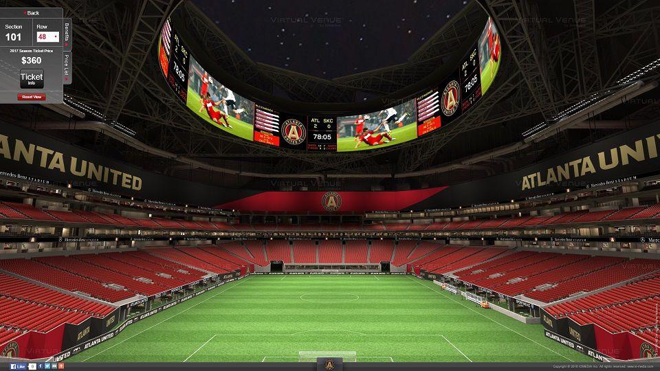Atlanta United S Virtual Venue Seating For Mercedes Benz Stadium Looks Amazing