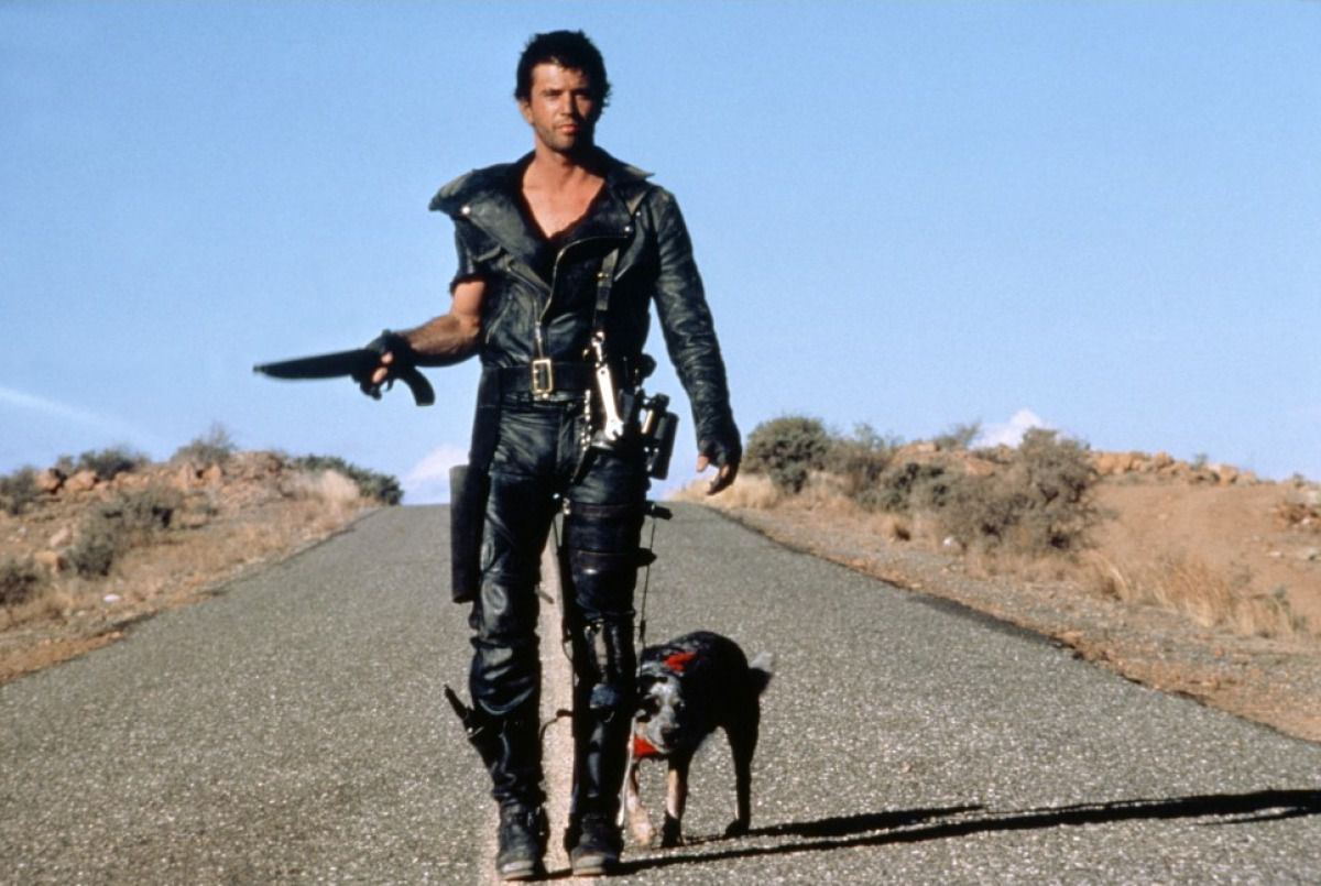 Mel Gibson stars in The Road Warrior.