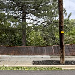 A fence that was damaged by high winds on 1500 East near 1000 South in Salt Lake City is pictured on Tuesday, Sept. 8, 2020.