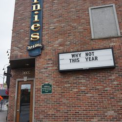Sign outside of Bernie's