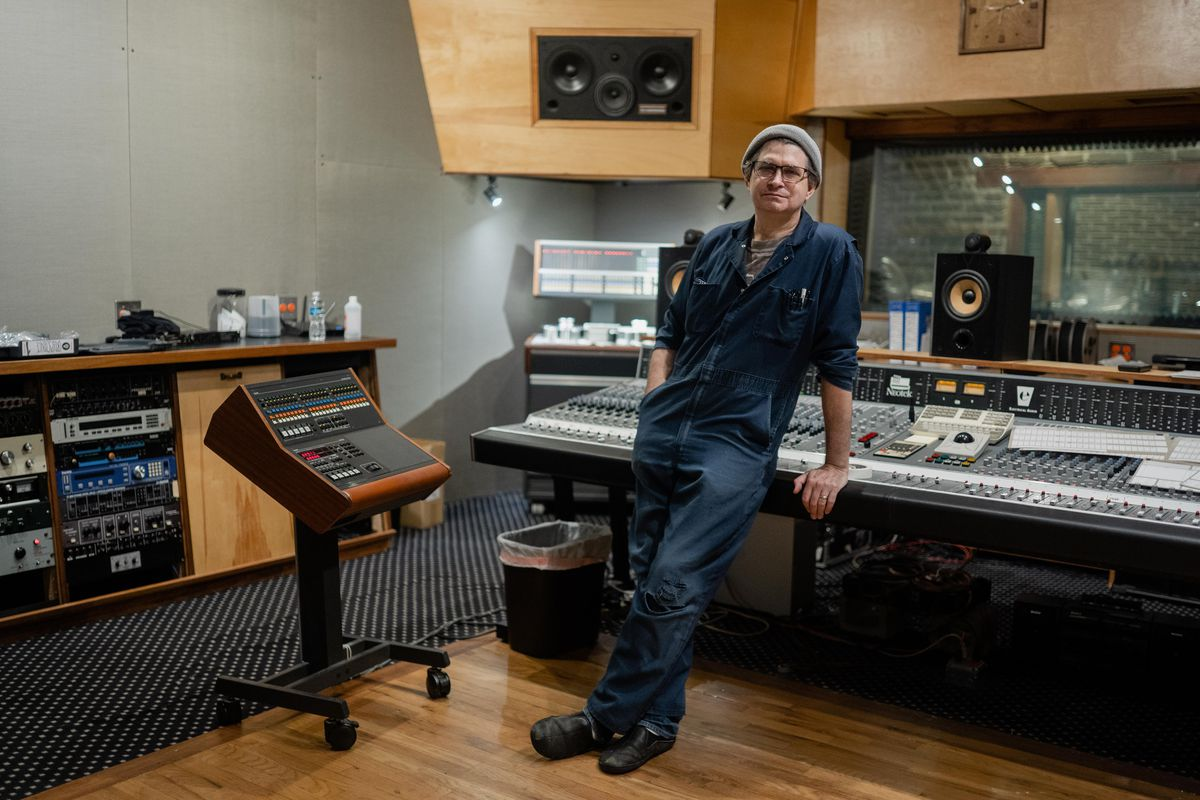 Recording engineer Steve Albini, photographed in August 2021 at his Electrical Audio studio in Chicago's Avondale neighborhood.