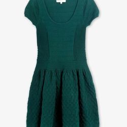 "<b>Sandro</b> Ruffus dress in green, <a href=""http://us.sandro-paris.com/shop/women/dresses/ruffus-5.html"">$200</a>"