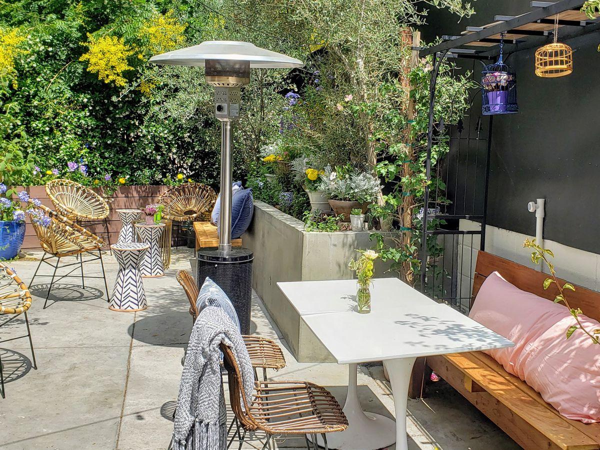 Lady Byrd Cafe's patio in Echo Park, Los Angeles