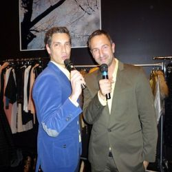 Decadestwo.1 owners and the evening's auctioneers Cameron Silver and Christos Garkinos