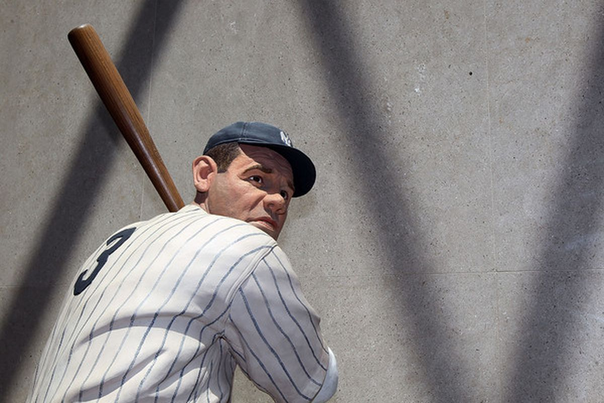 COOPERSTOWN NY - JULY 24:  A statue of Babe Ruth is seen at the Baseball Hall of Fame and Museum during induction weekend on July 24 2010 in Cooperstown New York.  (Photo by Jim McIsaac/Getty Images)