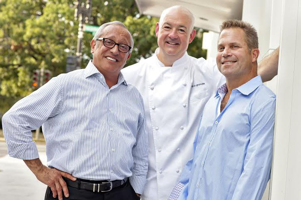 Passion Food Hospitality co-owners Gus DiMillo, Jeff Tunks and David Wizenberg.