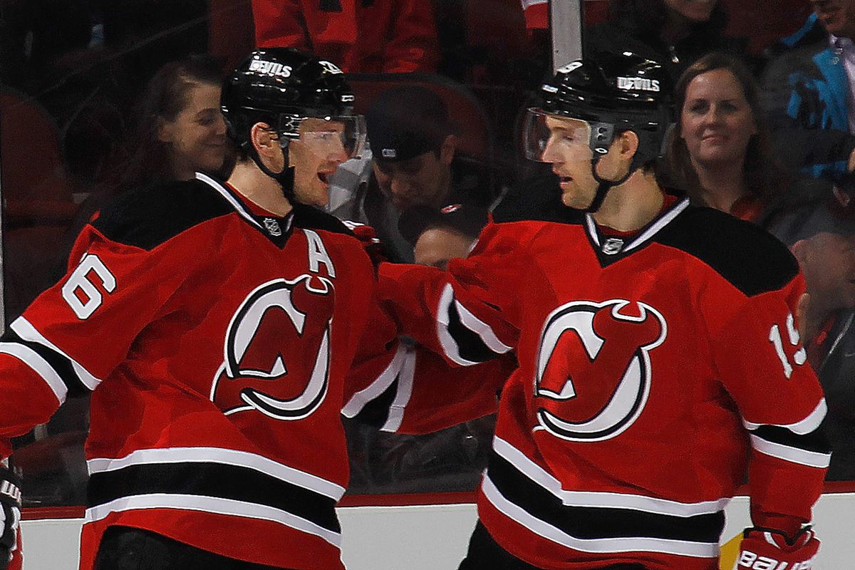 Left: The most important forward on the Devils, Patrik Elias. Right: One of the other crucial forwards on the Devils: Travis Zajac.  Both need to be valuable in this coming season.