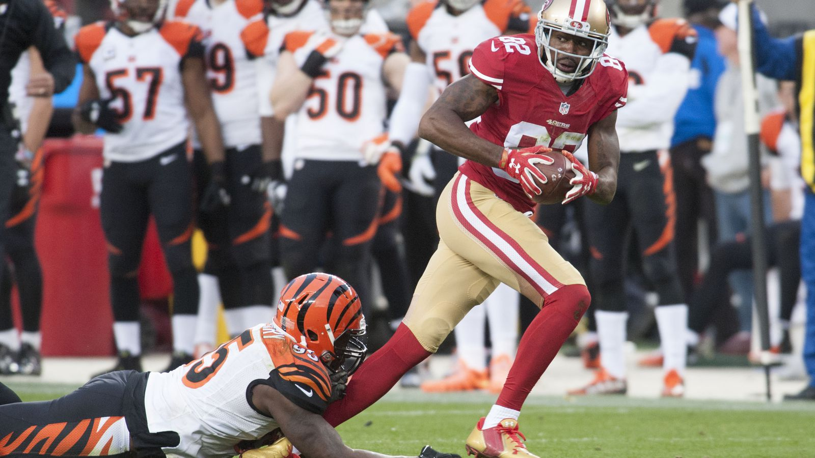 Lack Of 49ers Aggression In The First Half Anquan Boldin