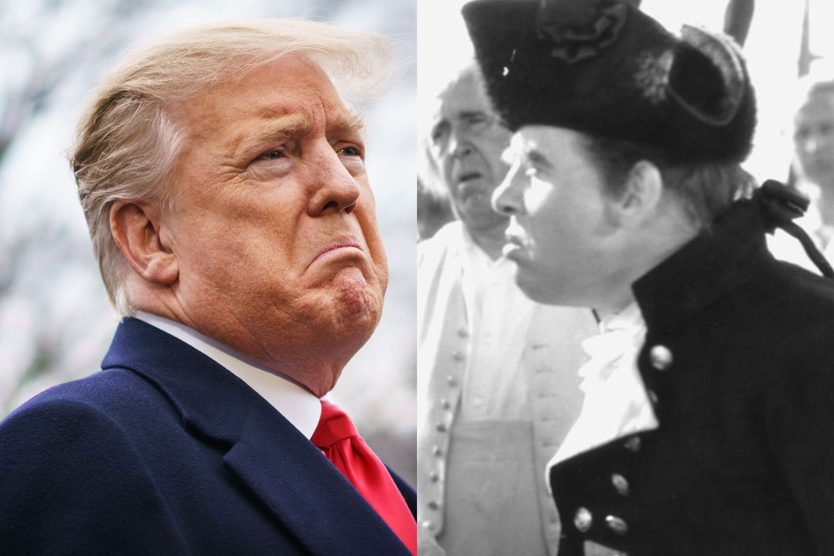 On the left, Donald Trump; on the right, Charles Laughton in the 1935 movie version of Mutiny on the Bounty.