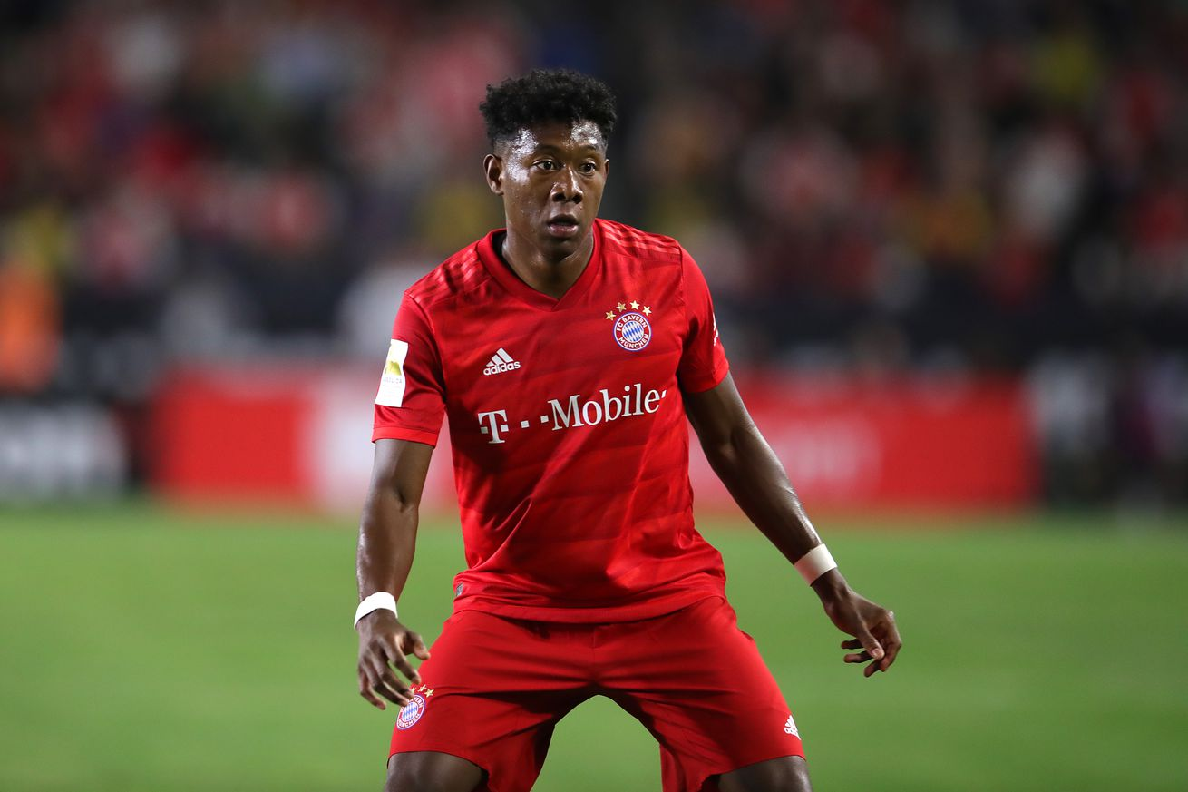 Bayern Munich?s David Alaba is the subject of conflicting reports involving FC Barcelona