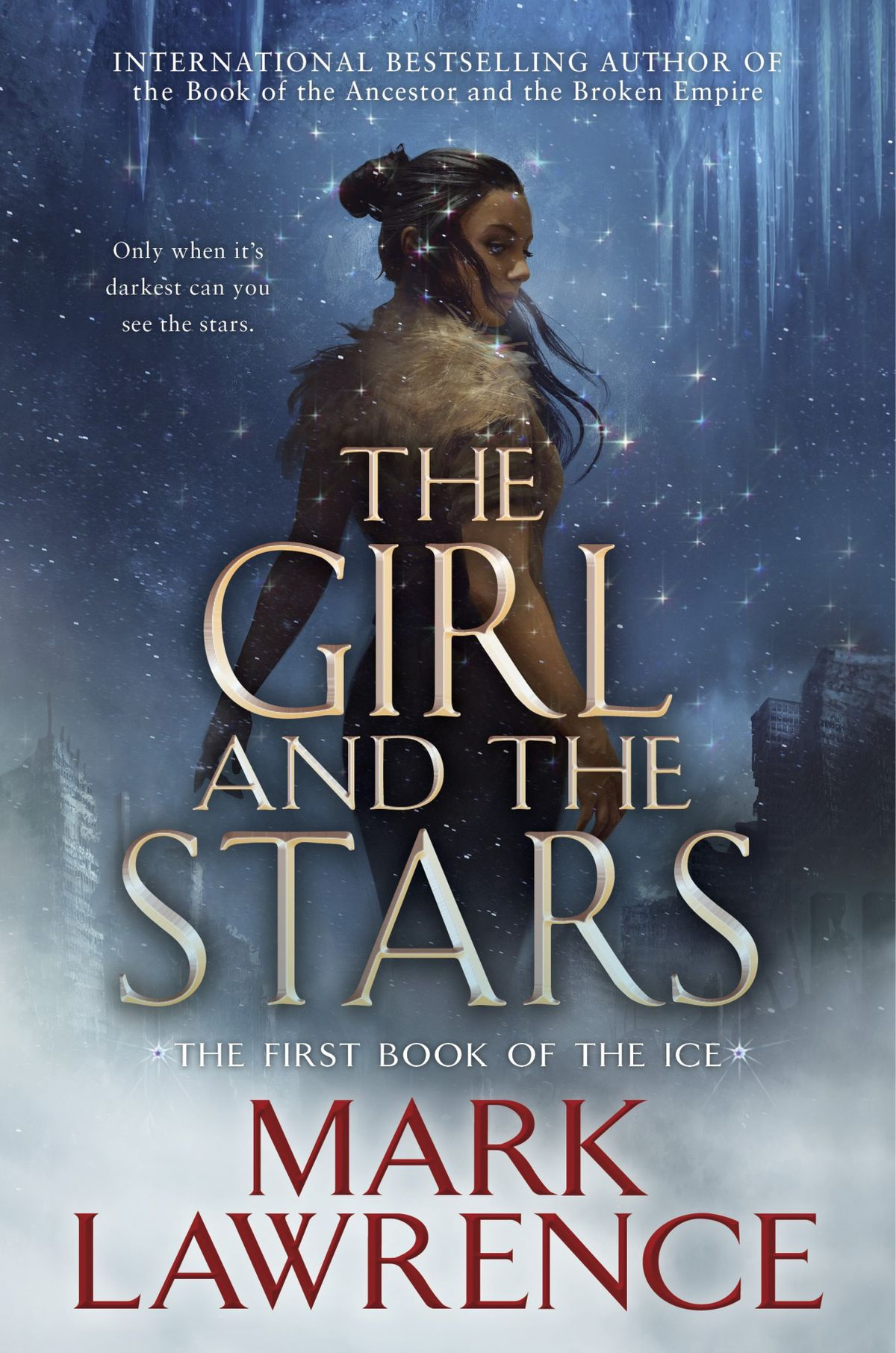 the girl and the stars: a black woman looks over her shoulder