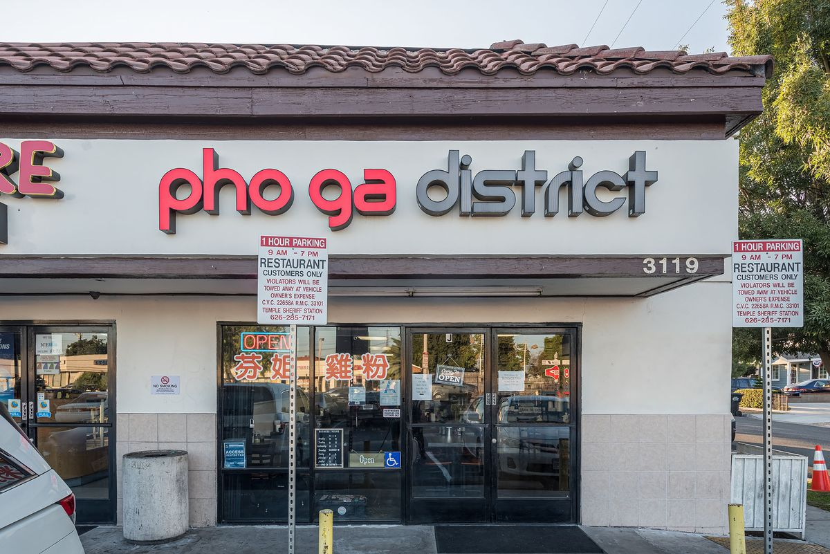 Signage and outdoor at Pho Ga District.