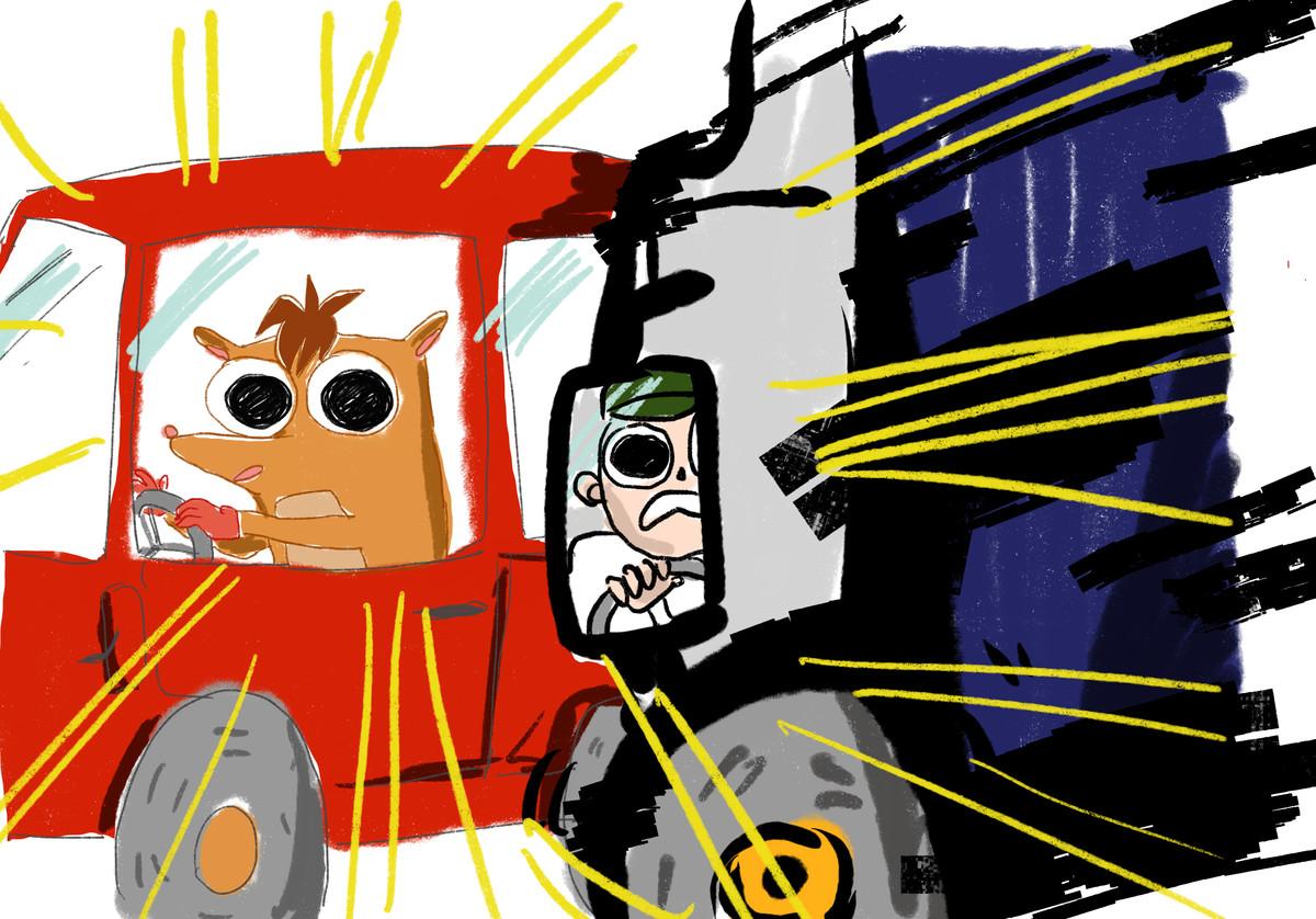 Polygon tries to draw Crash Bandicoot from memory 17