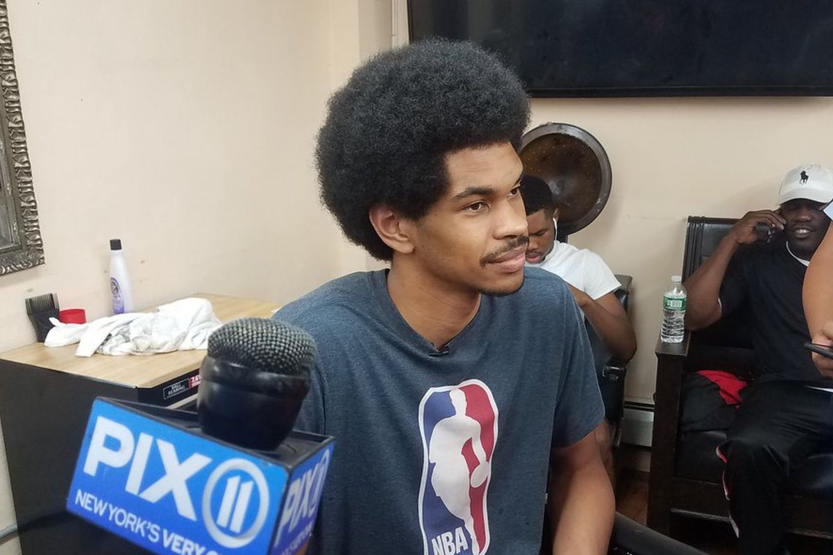 Back To School Jarrett Allen Provides Haircuts Supplies To