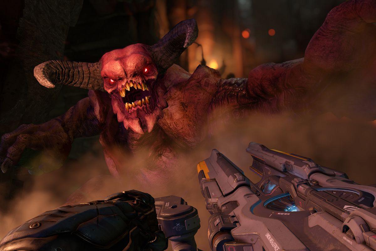 Doom (2016) - fighting the Baron of Hell
