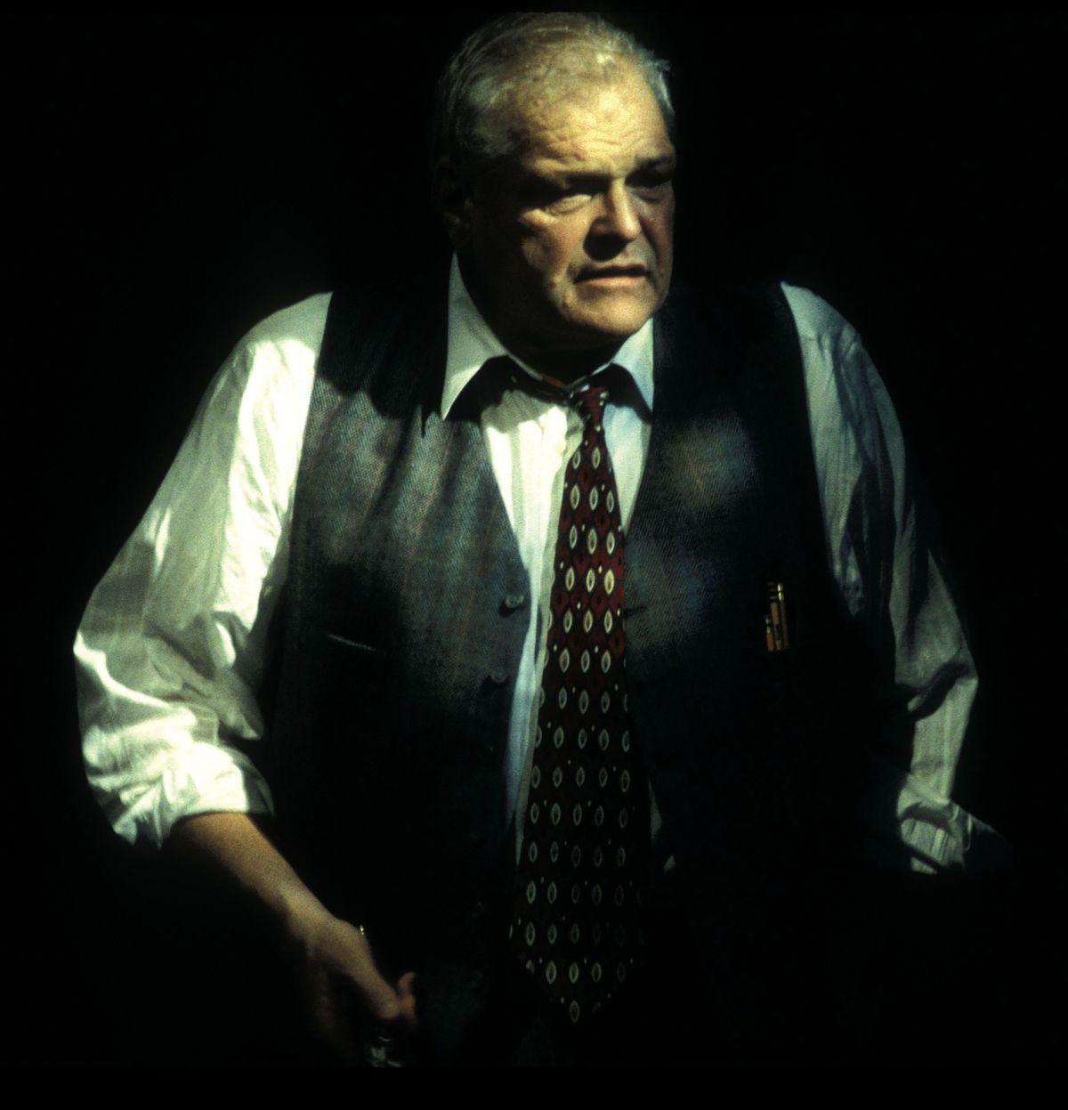 Brian Dennehy (Willy Loman) in Death of a Salesman by Arthur Miller, directed by Robert Falls at Goodman Theatre (September 18 – November 7, 1998).