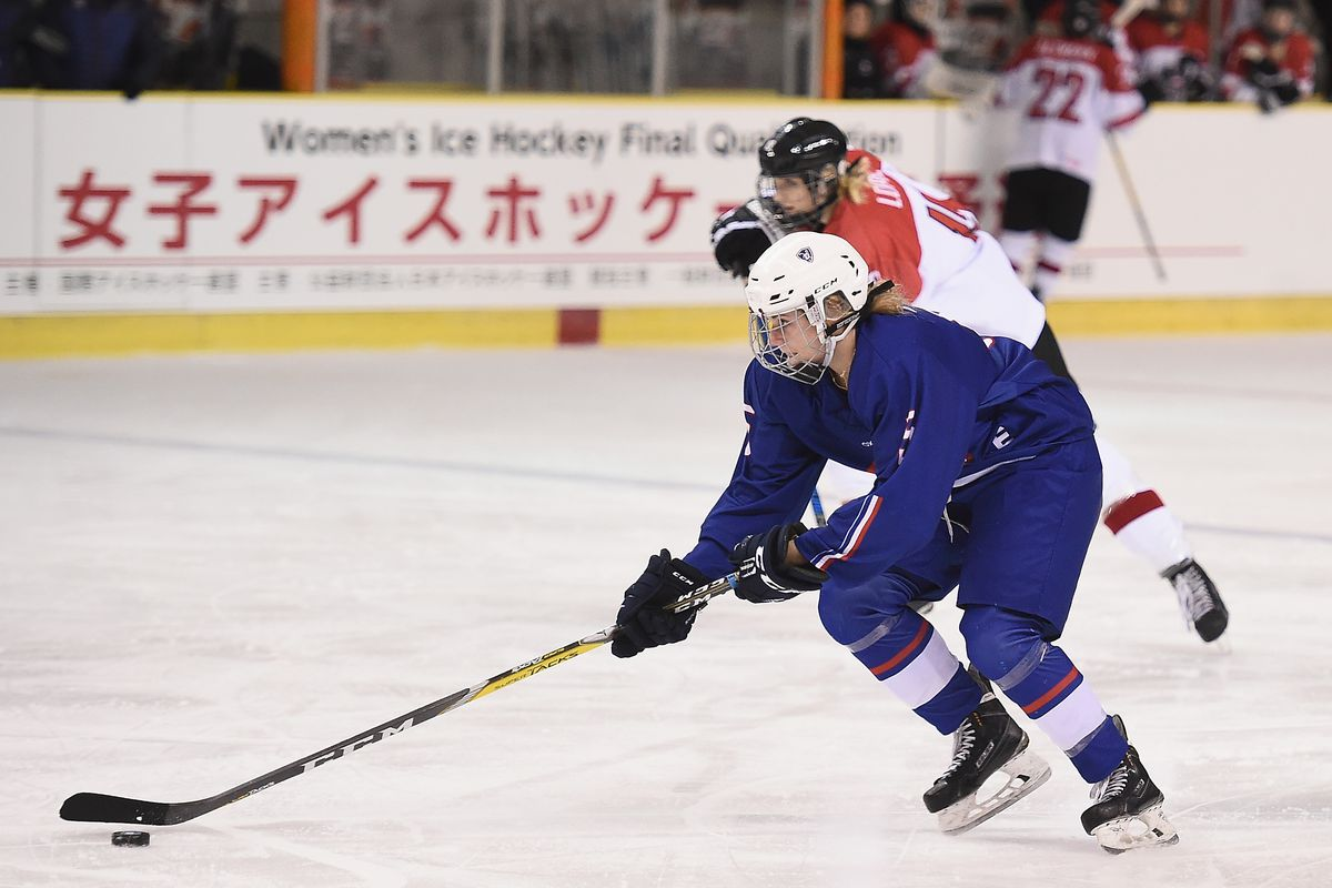 France v Austria - Women's Ice Hockey Olympic Qualification Final - Group D
