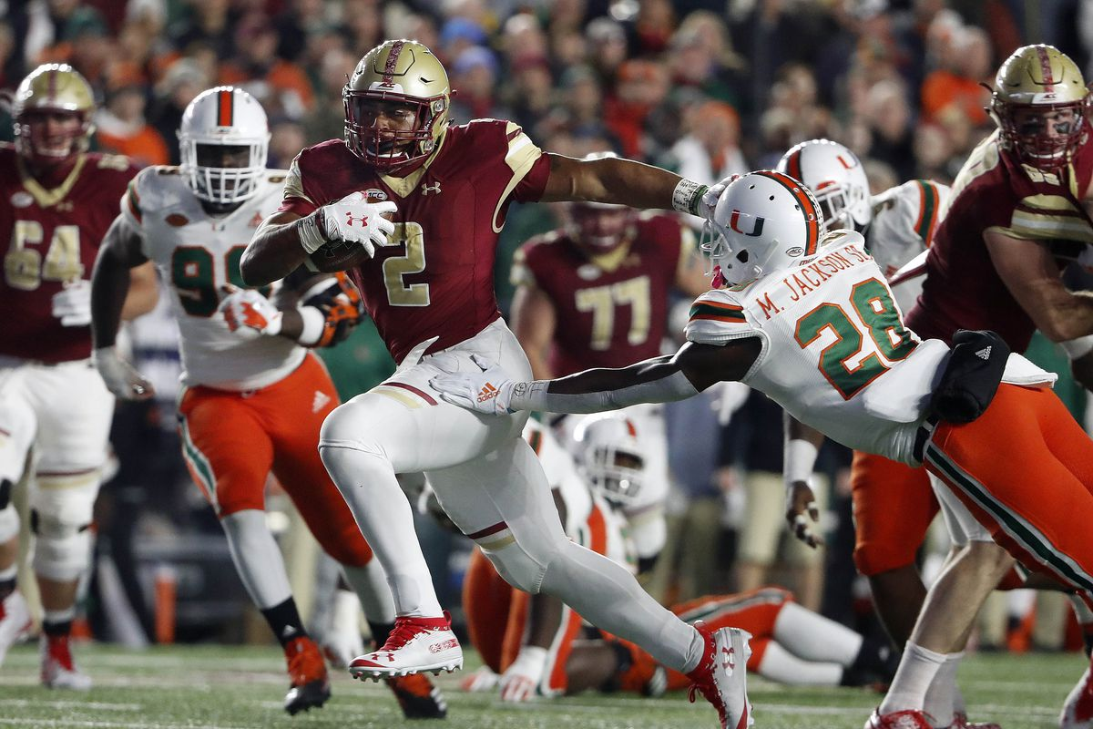 NCAA Football: Miami at Boston College