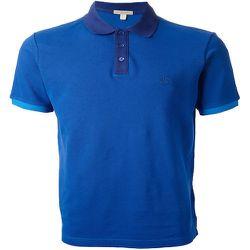 "<strong>Burberry Brit</strong> Colour Block Polo in Bright Cobalt, <a href=""http://us.burberry.com/colour-block-polo-shirt-p39047001"">$175</a>"