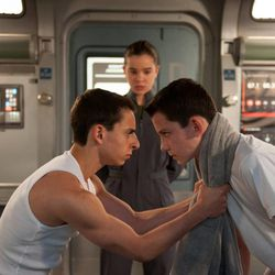 """From left, Moises Arias, Hailee Steinfeld and Asa Butterfield star in """"Ender's Game."""""""