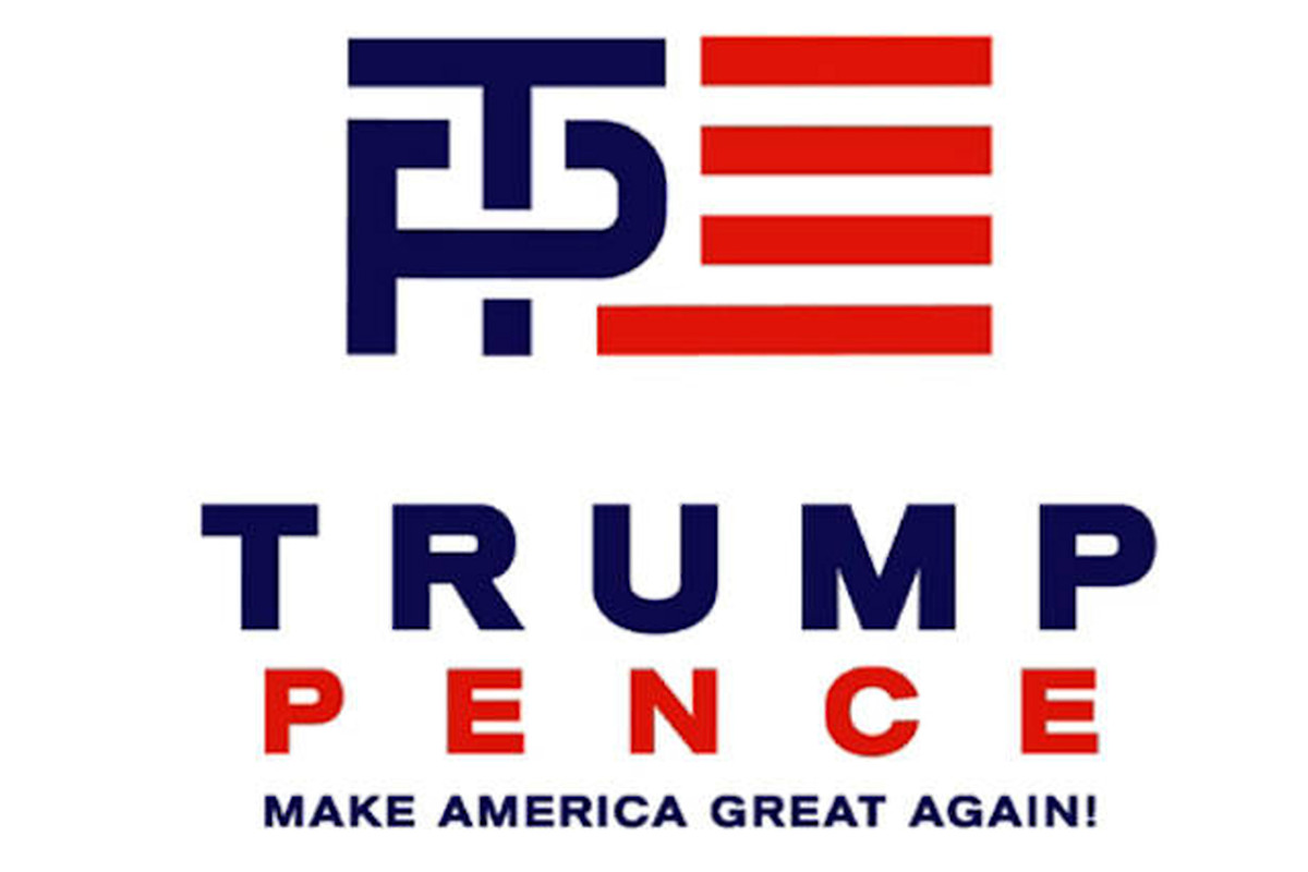 Like Airbnb, Trump-Pence logo designer forgot that the internet has a dirty mind
