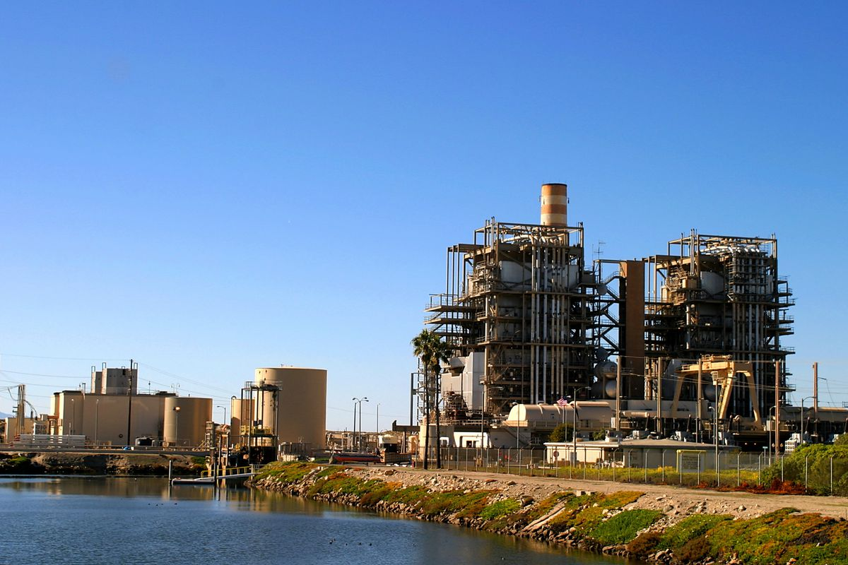 A natural gas power plant near Ventura, California.