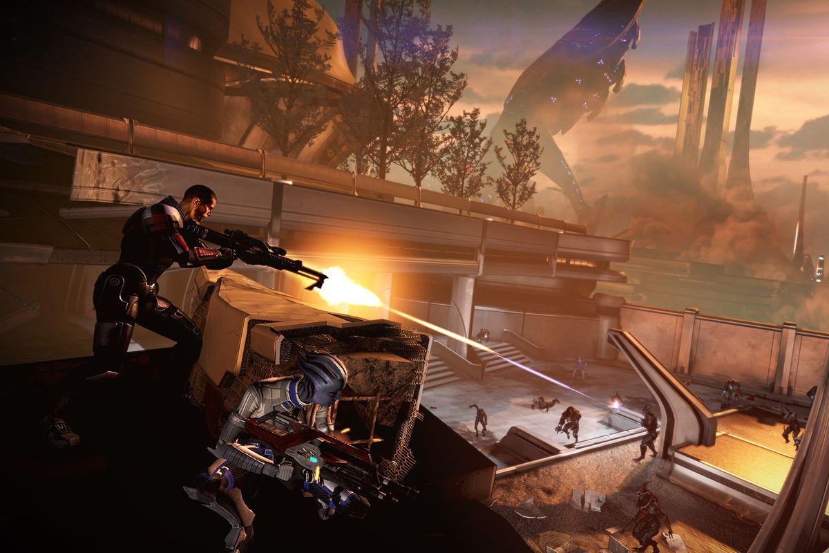 Mass Effect 3 - Shepard/Liara combat
