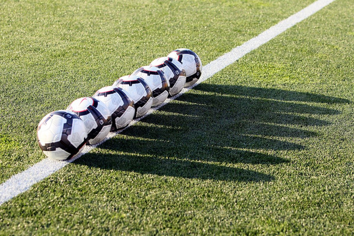 EAST HARTFORD, CT - MAY 25: Balls line the field before a friendly match between the U.S. and the Czech Republic at Rentschler Field on May 25, 2010 in East Hartford, Connecticut. (Photo by Jim Rogash/Getty Images)